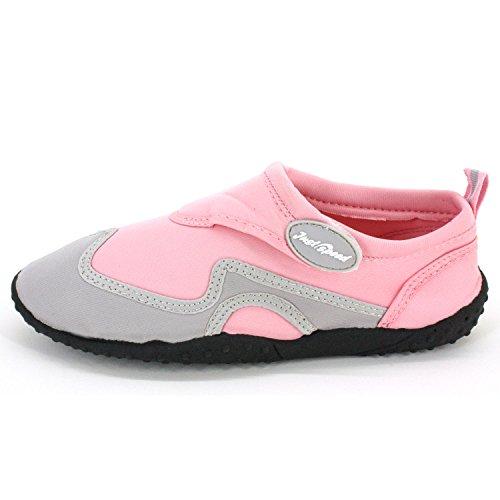 Bara Snabba Kvinnor Aqua Skor Aqua Socks- Material Som Andas, Max Slip Motstånd Och Fötter Skydd Rosa-grå