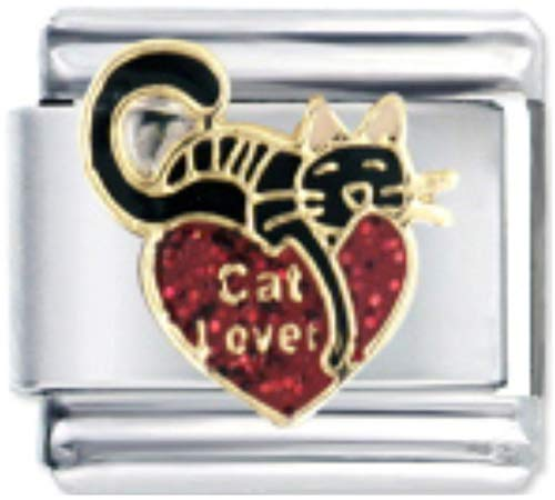 Stylysh Charms CAT Lover Cute Enamel Italian 9mm Link CA004 ()