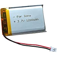 AOLIKES 3.7V Rechargeable Replacement Battery 1200mAh - PL 603450 PH2.0 Connector for Bluetooth Speaker Helmet, GPS, MP4…