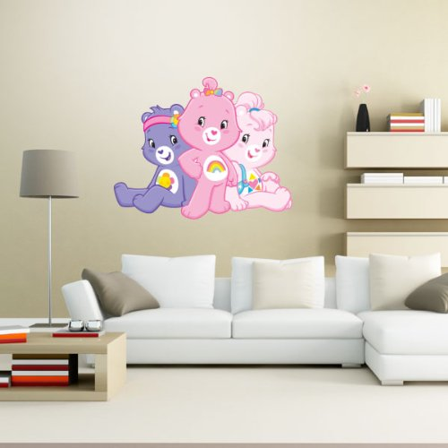 (Care Bears three bears together Wall Graphic Decal Sticker 25