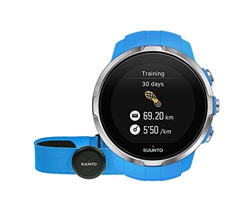 Suunto Unisex Sport Digital Quartz Display Watch, Blue Silicone Band, Round 50mm case