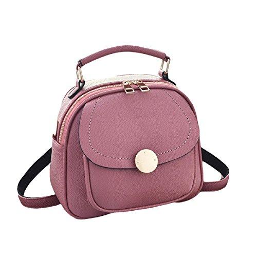 Bolso Casual Bolsa De Flip-bloqueo Diagonal Portable Del Bolso Salvaje De La Personalidad Pink