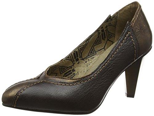 FLY London Alm748fly, Zapatos de Tacón para Mujer Marrón (Bronze/chocolate 004)