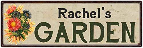Rachel's Garden Personalized Flower Chic Decor 6x18 Sign 6 x 18 High Gloss Metal 206180017082 - Rachels Garden