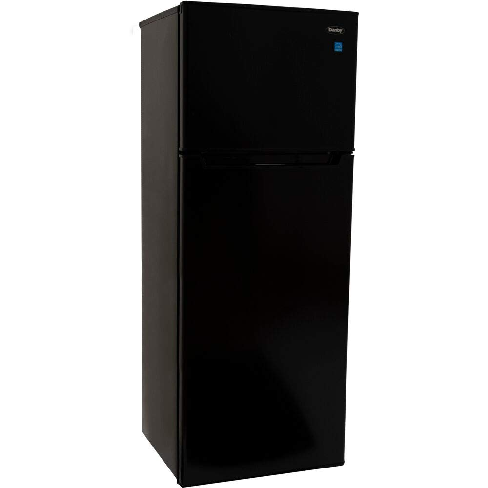 Danby Designer 7.3-Cu. Ft. Apartment-Size Refrigerator with Top-Mount Freezer in Black