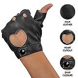 Skeleteen Fingerless Biker Jazz Gloves - 80s Style