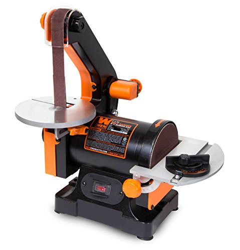 - WEN 6515T 1 in. x 30 in. Belt Sander with 5 in. Sanding Disc