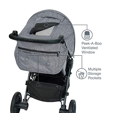 41lg Idv0iL - Britax B-Free Travel System With B-Safe Ultra Infant Car Seat - Birth To 65 Pounds | All Terrain Tires + Adjustable Handlebar + Extra Storage With Front Access + One Hand, Easy Fold, Vibe