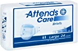 Attends 30443100 Incontinent Brief Homecare Extra Absorbent Breathable Briefs Tape Tabs Large Disposable Moderate Absorbency Brhc30 Box Of 72