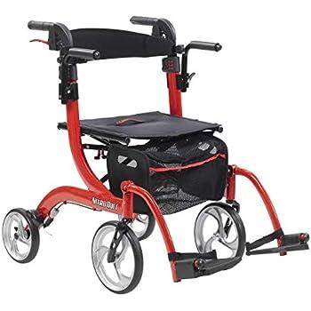 Amazon.com: Elite Care Hybrid 2 in 1 Rollator Walking Frame/Folding ...