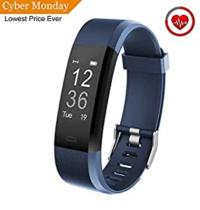 Muzili Fitness Tracker YG3 Plus Activity Tracker with Heart Rate Monitor Calorie Counter Step Counter Sleep Monitor Fitness Watch IP67 Waterproof Smart Wristband for Android and IOS (Blue)