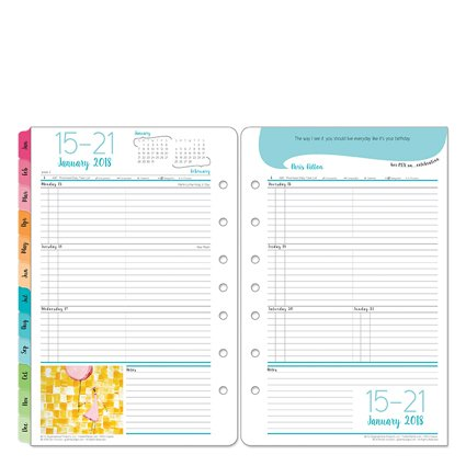 Her Point Of View Weekly - Classic Her Point of View Weekly Ring-bound Planner - Jan 2018 - Dec 2018