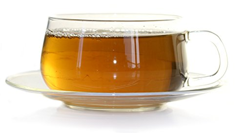 La Lune Clear Glass Tea & Coffee Cup with Saucer by Tealyra (1)