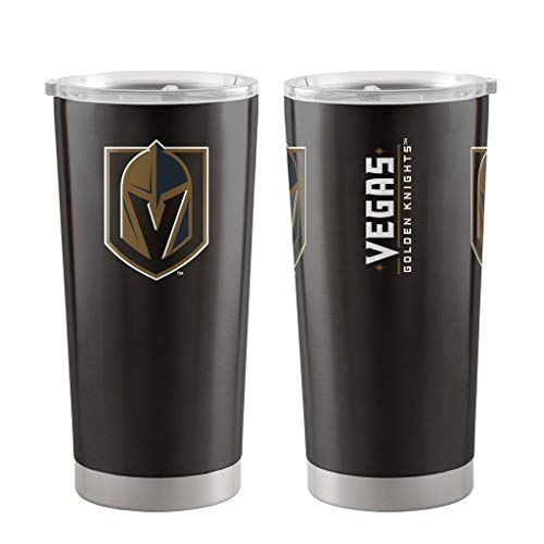 Boelter Brands NHL Vegas Golden Knights Travel Tumbler20oz Ultra, Black, 20 ()