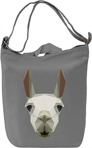 Llama head Borsa Giornaliera Canvas Canvas Day Bag| 100% Premium Cotton Canvas| DTG Printing|