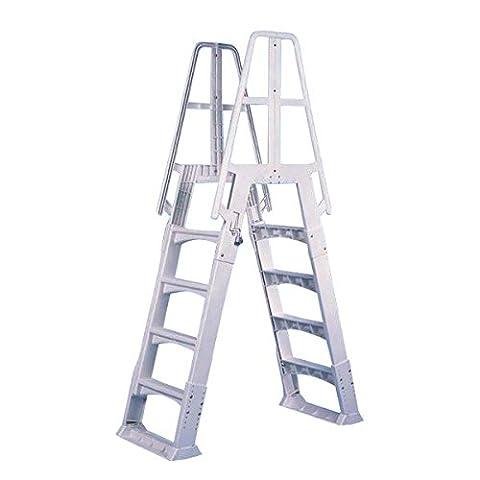 Vinyl Works Slide-Lock A-Frame Above Ground Pool Ladder - Access Steel Ladder