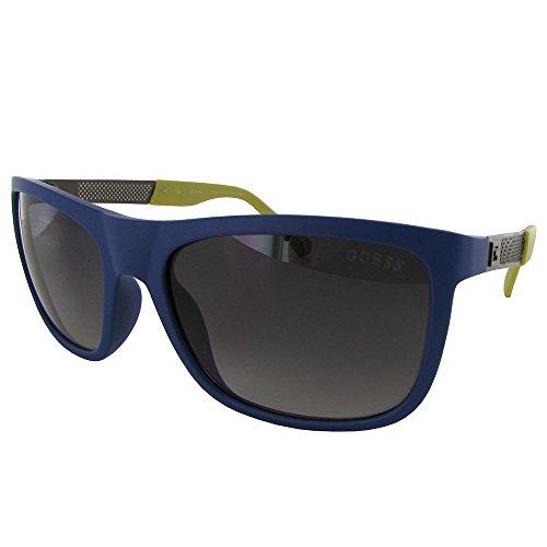 GUESS Men's Acetate Rectangle GU6843 Square Sunglasses, 91B, 57 mm (Vision Sonnenbrille)