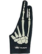Huion Skelethandschoen voor Grafische Tekentablet, Ideale Aangroeiwerende Handschoen voor Mensen die Tekentabletten en Lichtbakken Gebruiken (1 eenheid van vrij formaat, goed voor rechterhand)