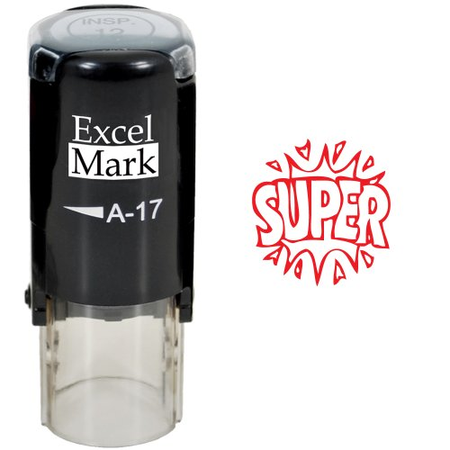 Round Teacher Stamp SUPER RED product image