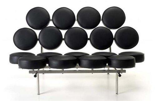 Fine Mod Circle Sofa, Black