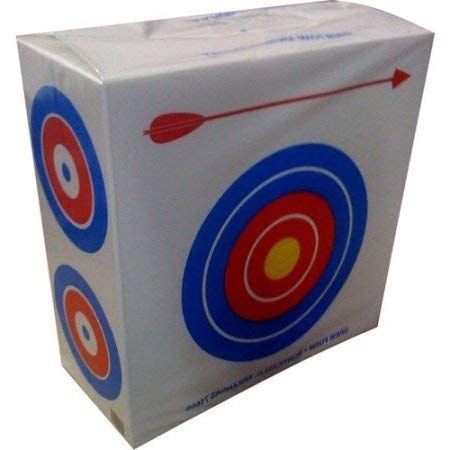 Drew Polystyrene Foam Archery Target 2' Square With a Large Bull's Eyes on One Side for Beginners and Four Smaller Bull's Eyes on The Other Side for Experienced Archers Great for Light Weight Bows