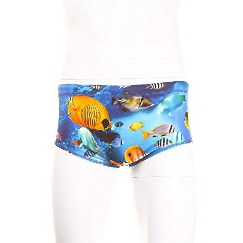 Maru Herren Pacer Schwimmen Badehose Shorts Slip Bademode Blau 30