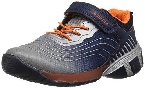 Stride Rite Boys' SR Kadin Lighted Sneaker, Navy/Grey, 9.5 M US Toddler