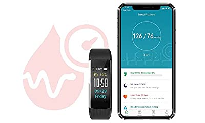 Jarv Run-Fit PRO Activity Tracker Bluetooth Smartwatch Fitness Band for iPhone or Android w/OLED Display, 7 Day Battery, Blood Pressure & Heart Rate Monitor (Black)