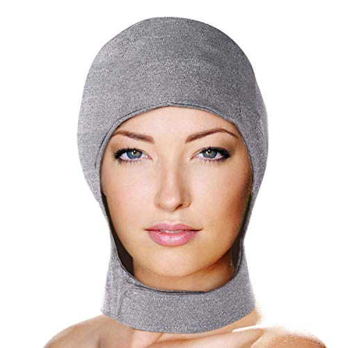 Migraine Gel Head and Neck Ice Hat by FOMI Care | Top and Side of Skull Plus Cervical Cold Coverage | Wearable Cranial Cap for Headache, Sinus, Chemo, Stress, Pressure Pain Relief