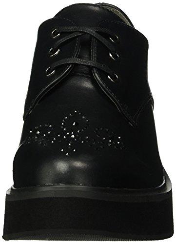 de Zapatos Cordones Negro Brogue Fiorucci para Fdan053 Mujer ZqwBCx