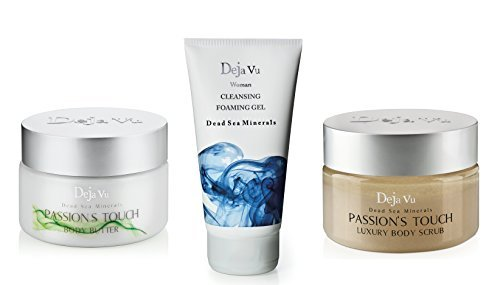 Lot of 3 Items: Deja Vu Body Butter +Salt Scrub Passion Touch +Cleansing Foaming Gel