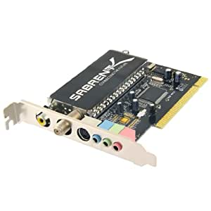 Sabrent TV Tuner/Video Capture/DVR/DVD Maker PCI Card with Remote Control (Analog NTSC) TV-PCIRC