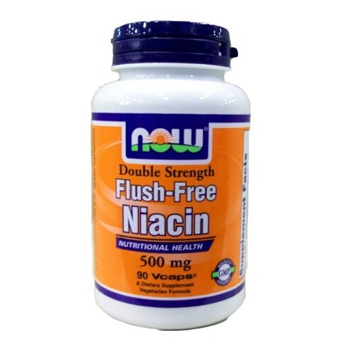 NOW Foods Rincer gratuit niacine Double Strength, 500mg, 90 capsules végétariennes-