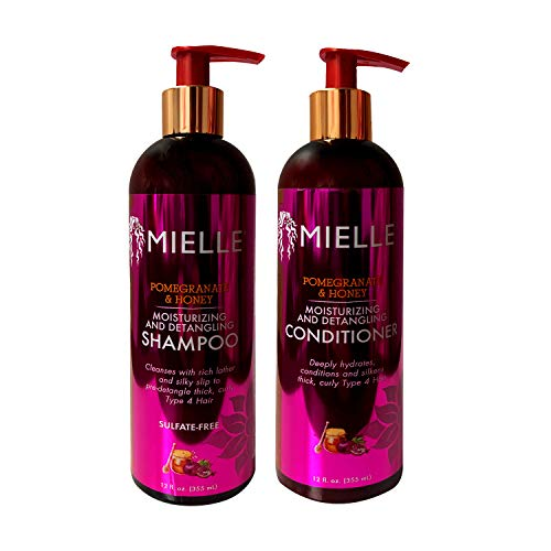- Mielle Pomegranate & Honey Moisturizing/Detangling Shampoo and Conditioner SET (12 fl. oz Each)