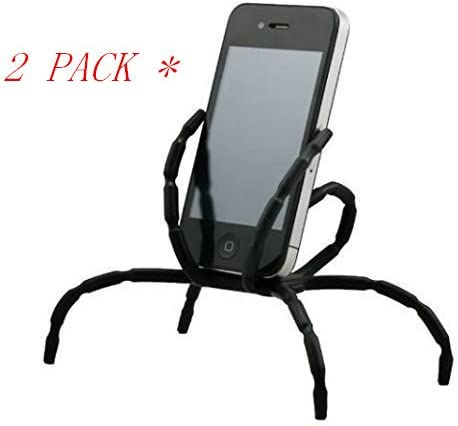 Aurora Universal Multi-function Spider Flexible Phone Car Holder hanging Mount and Stand for iPhone 6 plus//6//5//5S 4//4S and samsung Andriod Phones in Car Bicycle Desk Plane Black,Red,Blue and White