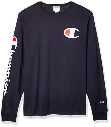 Champion LIFE Men's Heritage Long Sleeve Tee, Navy for sale  Delivered anywhere in USA