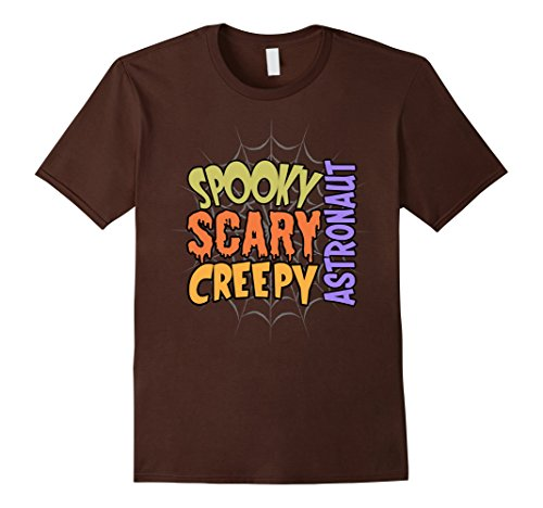Mens Spooky Scary Creepy Astronaut Halloween Costume T-shirt Small Brown (Astronaut Halloween Costume Ideas)