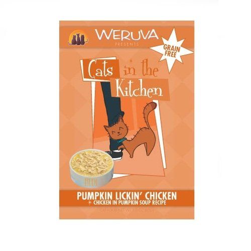 Cats in the Kitchen Cat Food, Pumpkin Lickin' Chicken, 3-Ounce Pouches (Pack of 8), My Pet Supplies