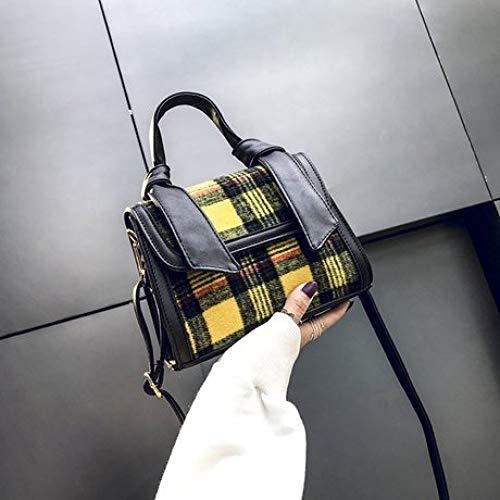 Da Shoulder A Fashion Canvas Round Bag Plaid Crossbody Donna Simple Femmeborse Backpack Bright Cabas 4qvTxEwR