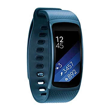 Image of Arm & Wristbands Samsung Gear Fit2 - Blue, Medium/Large (Renewed)