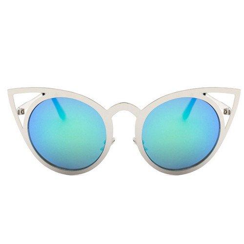 Gafas TL enormes Sunglasses Sol B Señor Eye D de Mujeres Steampunk Unas Gótico de Bastidor Cat Gafas Espejo Sol UV400 Gafas SF8SwrTq