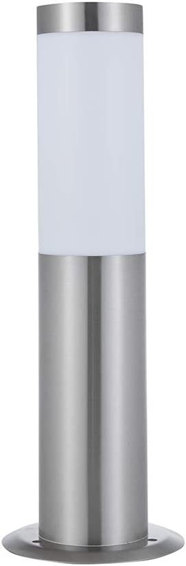 Easy Install Modern Stainless Steel Lawn Pathways /& Patio Landscaping IP44 Weatherproof Protection Ideal for Garden Driveways Biard Outdoor Post Bollard Light