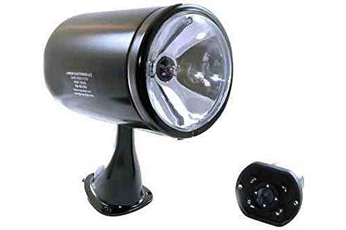 35 Watt HID Remote Controlled Spotlight - Dash Remote - Black/White Searchlight