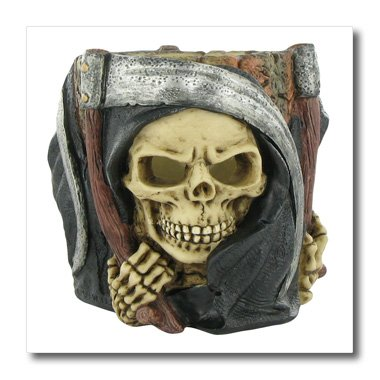 3dRose ht_131328_2 Halloween Scary Grim Reaper Iron on Heat Transfer, 6 by 6-Inch, for White Material]()
