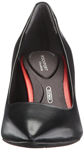 Pompe Pompa Pianura Donne Rockport Tm75mm In Pelle Scarpe Da Punta Classico Serpente Boa Nero