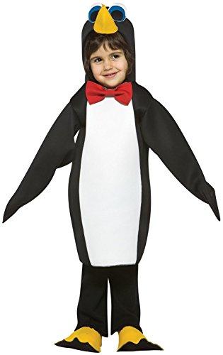 Penguin Toddler Costume ,Black ,3T-4T -