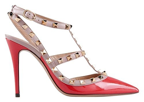 0e118486d2c5 Valentino Rockstud Ankle Strap Red Sandals  Amazon.co.uk  Shoes   Bags