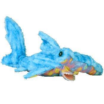 Ty Beanie Baby Sledge Hammerhead Shark - Ty Baby Beanie Dye