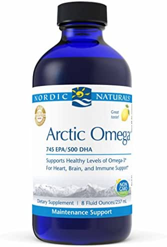 Nordic Naturals Pro Arctic Omega Liquid- Fish Oil, 745 mg EPA, 500 mg DHA, Helps Maintain Healthy Omega-3 Levels for Heart, Brain, and Immune Support, Lemon Flavored, 8 oz