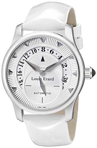 Louis Erard Women's 92600AA01.BDV12 Emotion Automatic Whit Patent Leather Date Watch